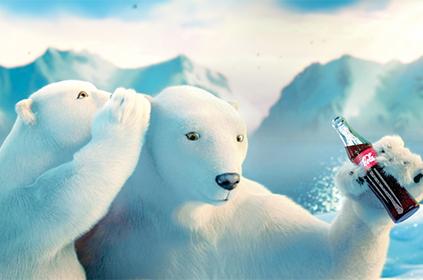 Ícone da marca, o urso polar passou a estrelar as campanhas no Brasil a partir dos anos de 1990