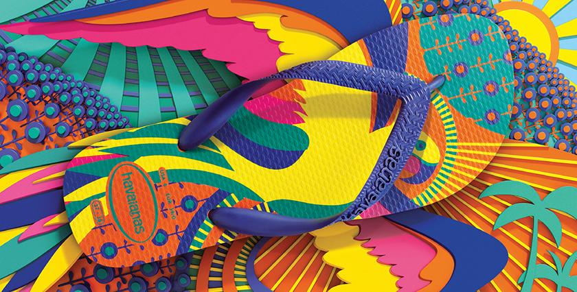 Criatividade estética que beira a arte: marca registrada da propaganda Havaianas