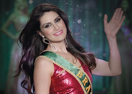 """Campanha """"Tchauzinho de Miss"""", criada pela Artplan, mostrou a ex-Miss Brasil, Natália Guimarães, em cenas do cotidiano"""