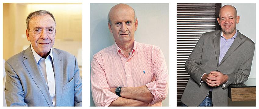 Da esquerda para a direita: Julio Riberio: só chegamos onde chegamos porque atuamos juntos; Jaime Troiano: foco em pessoas, não em produtos; João Livi: campanhas queridas pelo consumidor.
