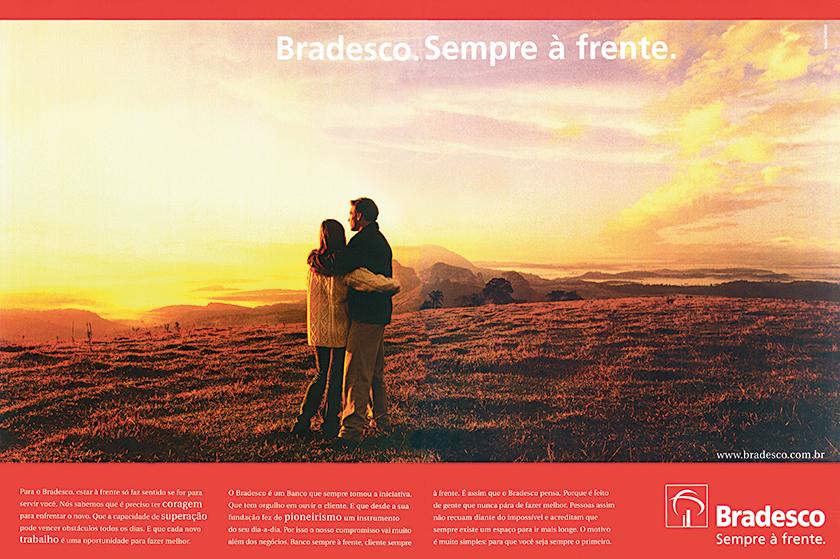 """Principal parceira por muitos anos, a Salles criou o slogan """"Sempre à Frente"""", em 1998"""