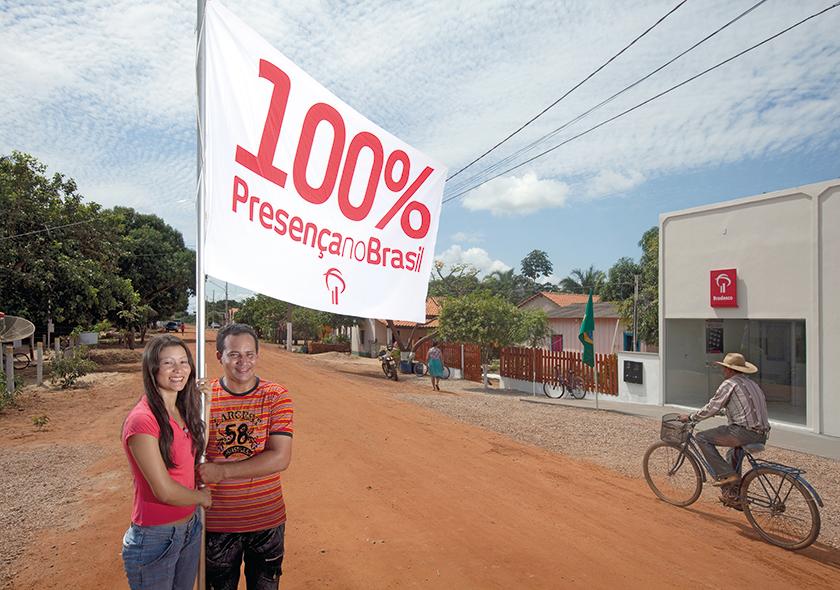 """Ao atingir 100% dos municípios brasileiros, banco adota, em 2009, o posicionamento """"Presença"""""""