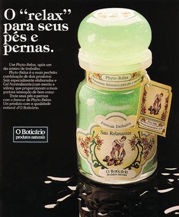 """Em 1985, merchandising da linha Phyto Relax na novela """"A gata comeu"""" deixou a marca conhecida nacionalmente"""