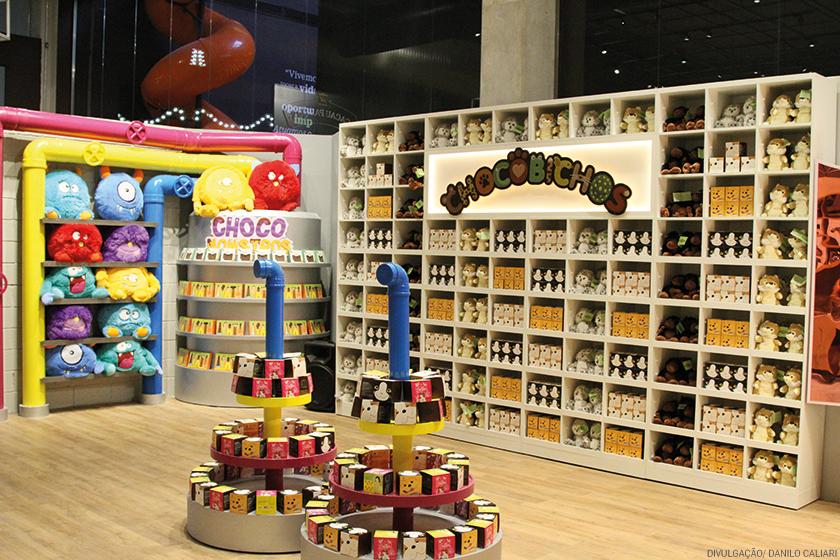 Linha de pelúcias Chocobicho exposta na megastore da empresa na cidade de Itapevi: loja consumiu investimentos de R$ 7 milhões
