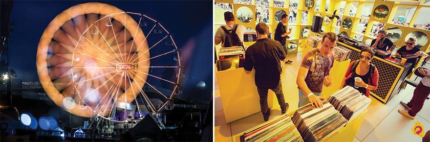 Ação de ativação da marca no Festival Lollapalooza, evento patrocinado pela cerveja em 2014 e 2105