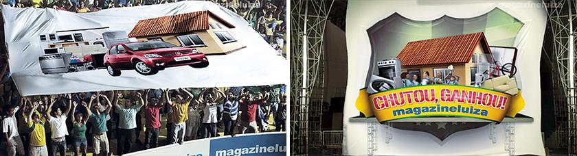 """Em 2010, época da Copa do Mundo na África do Sul, a promoção """"Chutou, ganhou!"""" deu carro, casa e R$ 20 mil em produtos"""