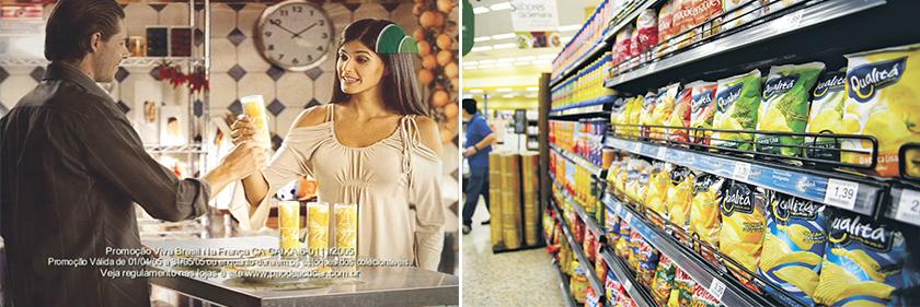 Em 2005, marca investiu na promoção Ano do Brasil na França, que levou clientes para Paris. À direita, O Pão de Açúcar trabalha com cinco marcas próprias: Qualitá, Taeq, Club des Sommeliers, Casino e Caras do Brasil