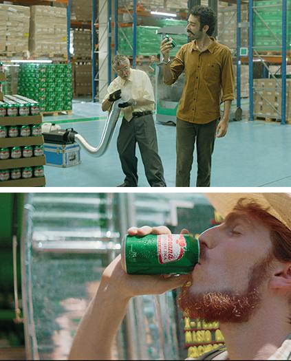"""No alto, campanha """"Recall"""" convidou público a trocar lata de outra marca de guaraná por uma de Guaraná Antarctica. Acima, filme da ação que apresenta o posicionamento """"É coisa nossa"""""""